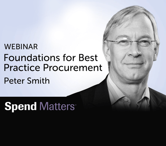 Spend Matters Webinar: Foundations for Best Practice Procurement Image